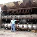 Very Large wetting & turning machine